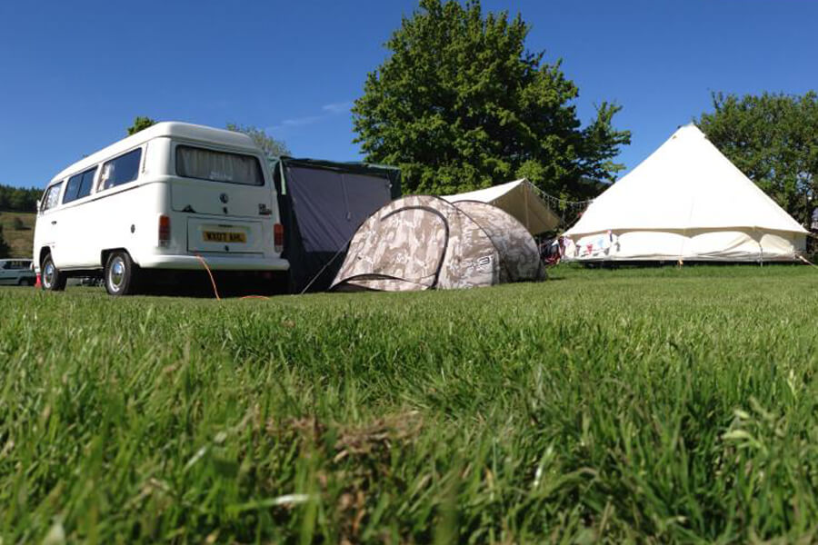 Masons Campsite Main Field Dub and Tents