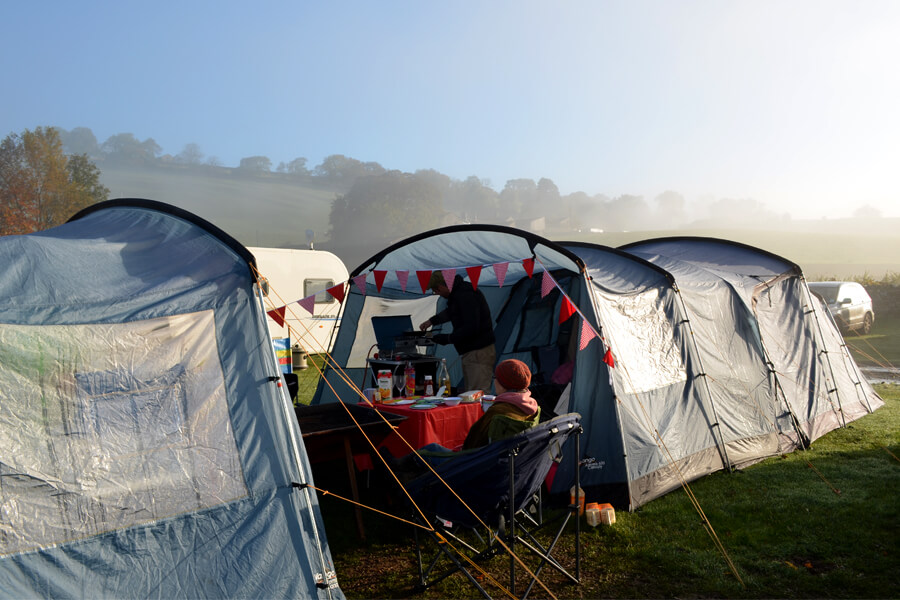 Masons Campsite Main Field Morning