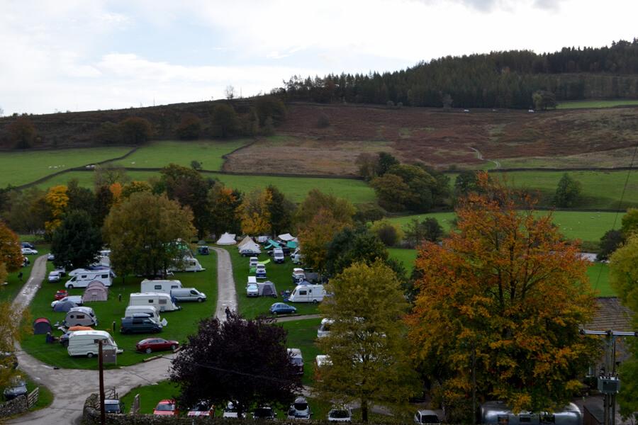 Masons Campsite Main Field Aerial View