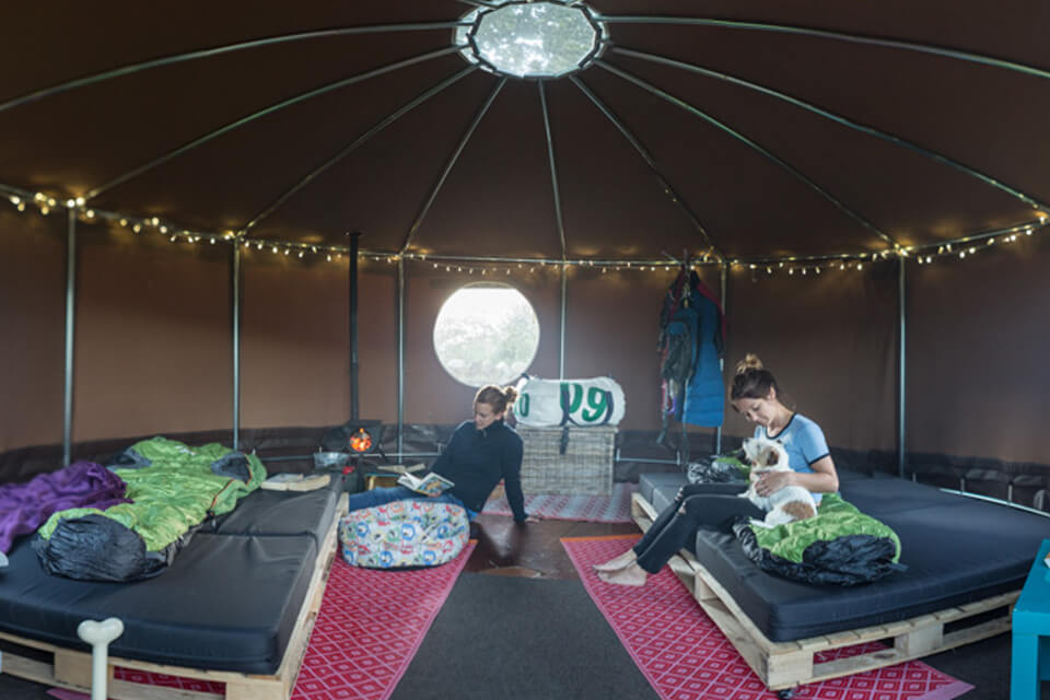 Masons Campsite Deluxe Yurt