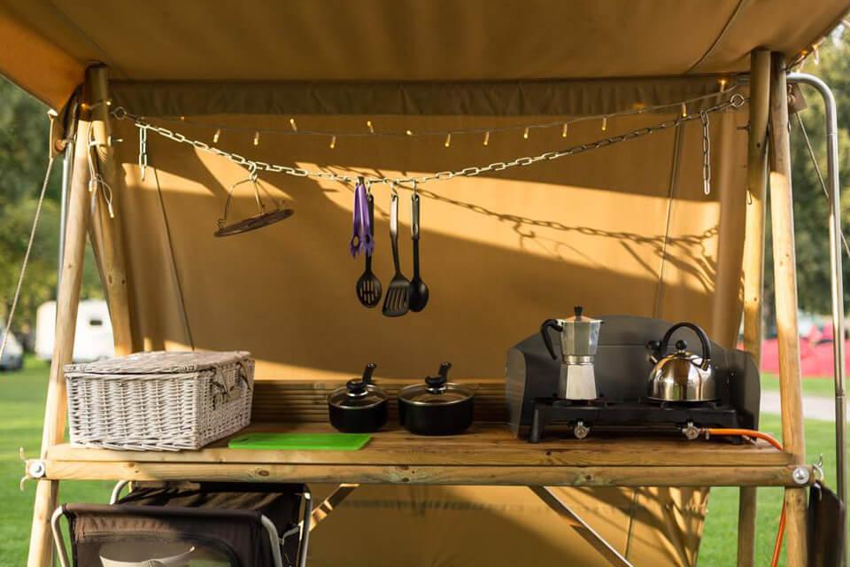 Masons Riverview Yurt Kitchen