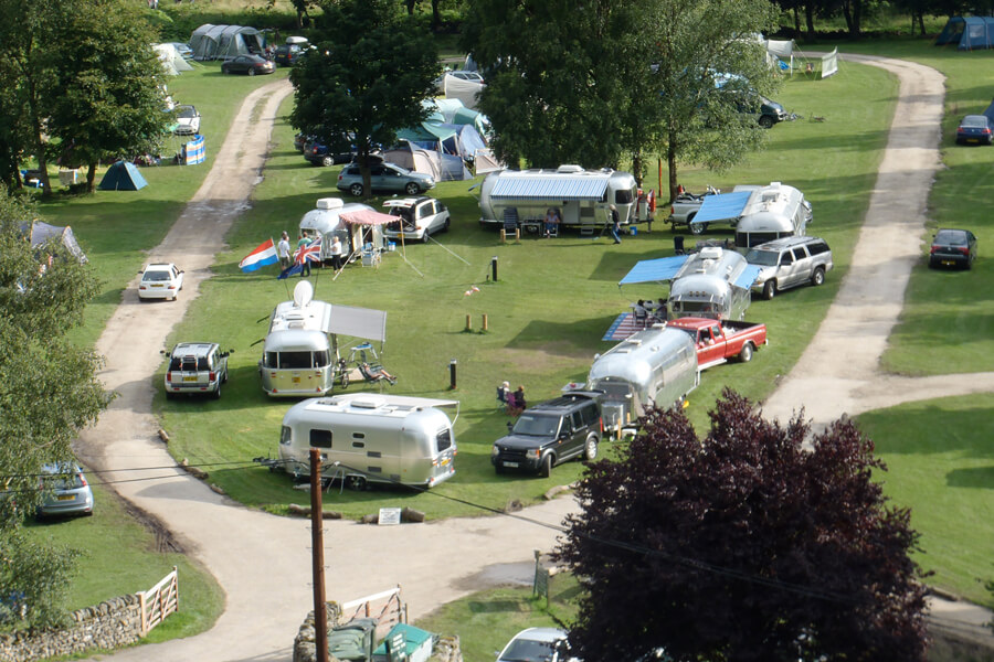 Masons Campsite Airstreams Aerial