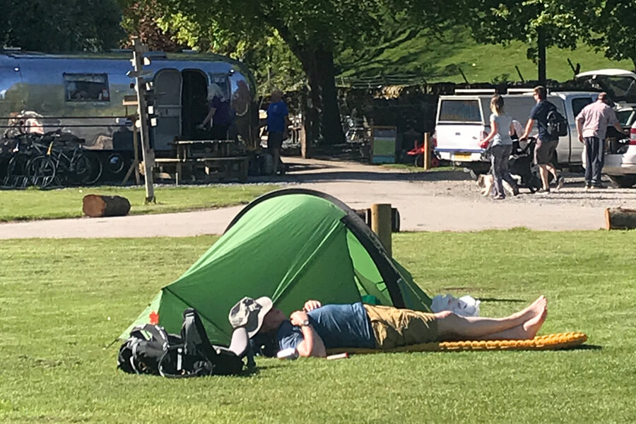 Quick nap at the site