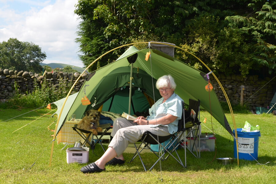 Afternoon Relax camping Bolton Abbey
