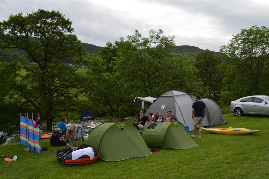 Camping Bolton Abbey River Field Tents