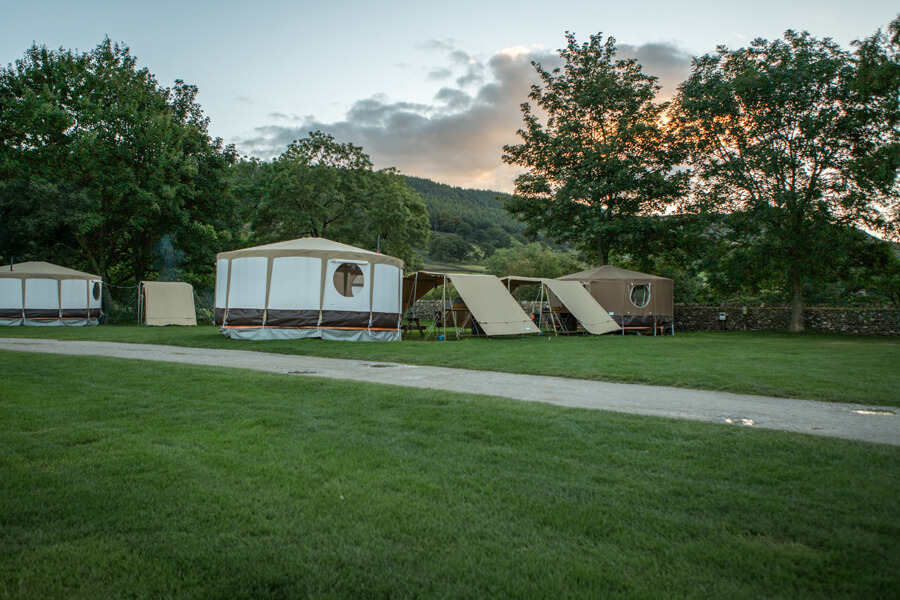 Masons Campsite Standard Yurt Exterior