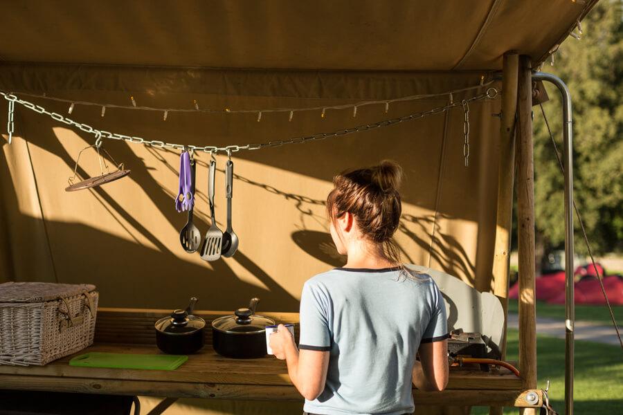 Masons Campsite Standard Yurt Kitchen