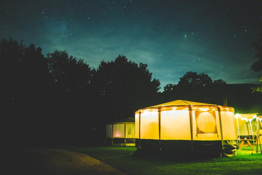 Masons Campsite Standard Yurt Night