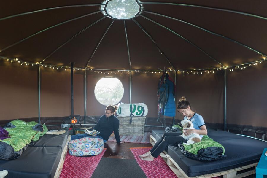 Masons Campsite Standard Yurt Interior