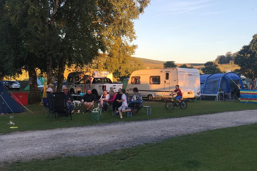 Masons Campsite Bolton Abbey Sunset
