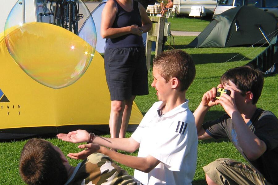Masons Campsite Bolton Abbey Bubble Fun